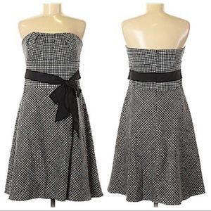 White House Black Market Strapless Gingham Dress 2